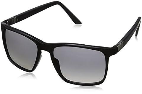 Tag Heuer Legend 9383 101 Square Sunglasses, Matte Black/Gradient Grey, 56 mm (Tag Heuer Women Black)