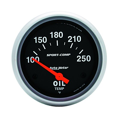 - Auto Meter 3542 Sport-Comp Electric Oil Temperature Gauge