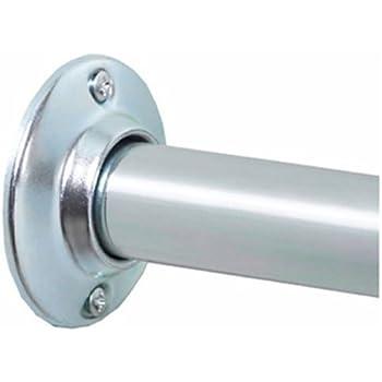 Zenna Home AL500S, NeverRust Aluminum Permanent Mount Shower Rod, 60 Inches, Chrome