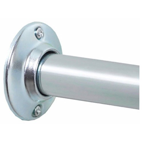 (Zenna Home AL500S, NeverRust Aluminum Permanent Mount Shower Rod, 60 Inches, Chrome)