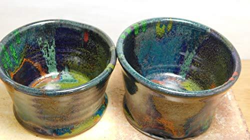 (926 Set of (2) Two Ceramic Ramekins, Stoneware, Wheel Thrown Pottery, Baking Dishes)