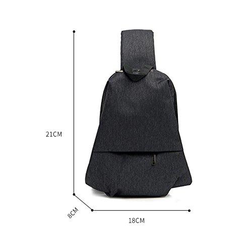 Oxford Fashion Durable Handbag Majome Men Casual Travel Blue Crossbody Chest Pockets Bag Shoulder z8qO0