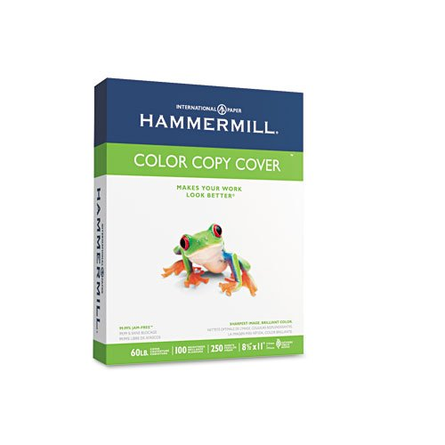 Hammermill : Cover Stock, 60lb, 98 Brightness, Letter, White, 250 Sheets -:- Sold as 2 Packs of - 250 - / - Total of 500 Each by Hammermill