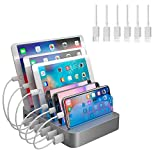 Hercules Tuff USB Charging Station Dock - 6 Cables Included Compatible for iPhone