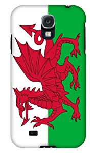 Case Fun Samsung Galaxy S4 (I9500) Case - Vogue Version - 3D Full Wrap - Wales Flag