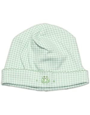 Baby Boys Homeward Gingham Embroidered Froggie Hat