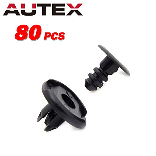 PartsSquare 80pcs Auto Body Car Clips Front Fender Clip Retainer Nylon Bumper Fastener Rivet Push Type Fastener Clamps Replacement for Honda Acura Civec 91512-SX0-003 -