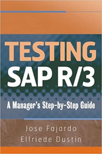 Testing sap r3 a managers step by step guide jose fajardo testing sap r3 a managers step by step guide jose fajardo elfriede dustin 9780470055731 amazon books fandeluxe Choice Image