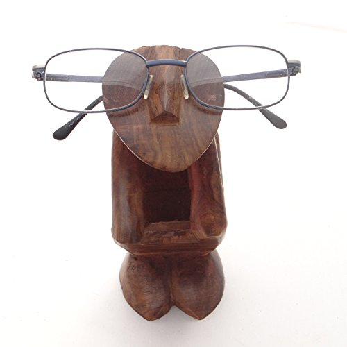 Valentine Gifts Kamla Sellers Hand Carved 'THINKING PERSON' Wooden Eyeglass Spectacle Holder Stand For Men/ - Wooden Frames Spectacle India