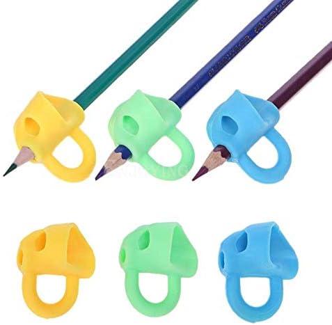 Weili Magie Grip Bleistift Hilfe Anfänger Schreiben Silikon Spielzeug Baby Doppel Daumen Haltungskorrektur Stift-Werkzeug für Kinder Kinder 3Pcs