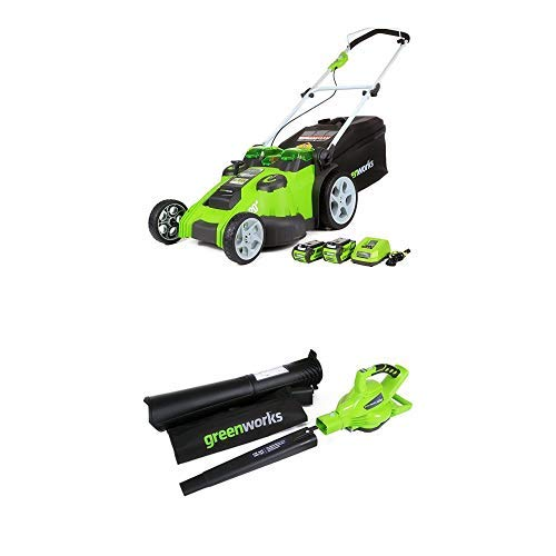 Greenworks 20-Inch 40V Twin Force Cordless Lawn Mower with 40V 185 MPH...