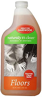 6 Pack Naturally It's Clean Floors Cleaner, 24 Ounce, All Natural Plant-Based Floor Cleaner Concentrate is Child and Pet Safe, Organic Enzyme Formula makes 24 Gallons