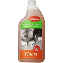 6 Pack Naturally It's Clean natural bathroom floor cleaner concentrate refill eco green non toxic surface all purpose no streak 24 ounce plant-based child pet safe organic enzyme makes 24 gallons