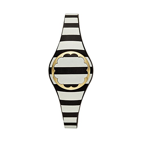 Kate Spade New York black and white stripe scallop activity tracker by Kate Spade New York
