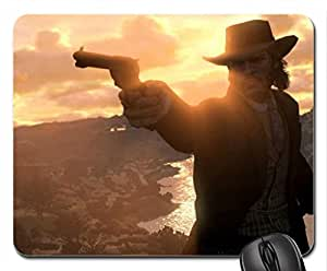 Red Dead Redemption Sun Behind Mouse Pad, Mousepad (10.2 x 8.3 x 0.12 inches)