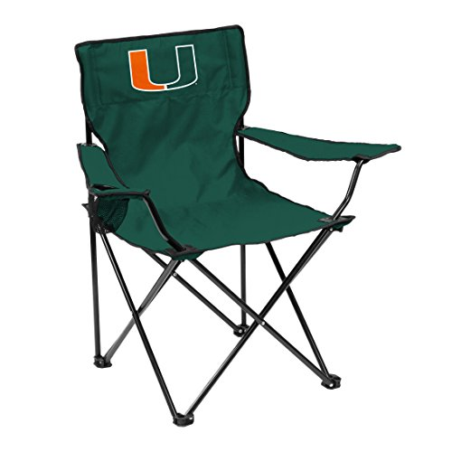 Logo Brands 169-13Q NCAA Miami Hurricanes Quad Chair, Green