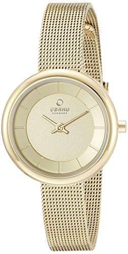 Obaku Women's V146LXGGMG Analog Display Analog Quartz Gold Watch