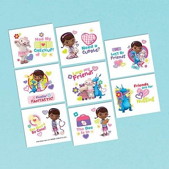 amscan Doc McStuffins Tattoo Sheet (1) -