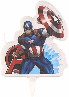 Vela cumpleaños 2D Vengadores Avengers Capitan America