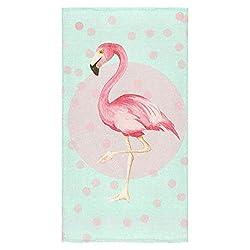 Modern Design Beach Towel Beautiful Amazing Flamingo Dots Beach 27 x 54 Inches