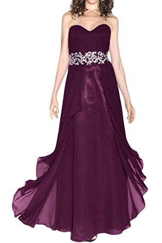Toscana novia elegante en forma de corazón duro por la noche vestidos de gasa estrella Prom vestidos de fiesta de fútbol de largo por la noche de la moda Traube