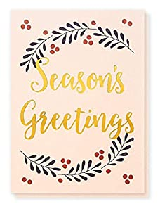 36-Pack Merry Christmas Greeting Cards Bulk Box Set - Winter Holiday Xmas Greeting Cards with Season's Greetings Typographic Design and Gold Foil Accents, Envelopes Included, 4 x 6 Inches from Best Paper Greetings