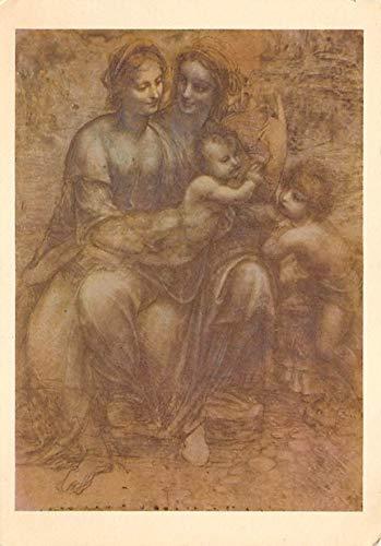 Virgin and Child with Saint Anne and infant Saint John Leonardo da Vinci Postcard Unused