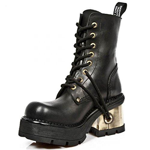 New Rock Støvler M.1047-c2 Gotiske Hardrock Punk Dame Stiefel Sort 0VGFSG