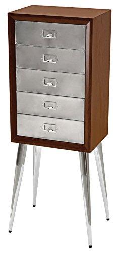 Acme Furniture 97209 Gannon Jewelry Armoire, Chrome/Dark Mahogany