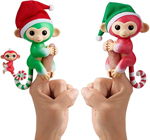 [해외]Fingerlings 크리스마스 휴일 2팩 - 할리 졸리 & 메리 / Fingerlings Christmas Holiday 2 Pack - Holly, Jolly, & Merry
