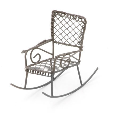 Metal Rocking Chair Rusty Color 2.5 X 2.5 X 3 Inches (8 Pack) ()