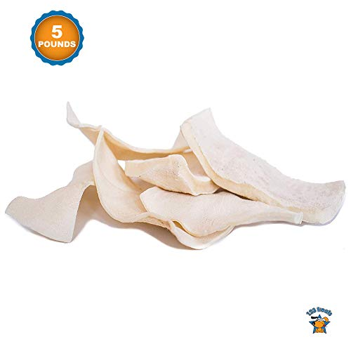 123 Treats - Rawhide for Dog (5 Pound) 100% All-Natural Grass-Fed Free-Range Beef Hide Chews for Dogs (Natural 100% Rawhide)