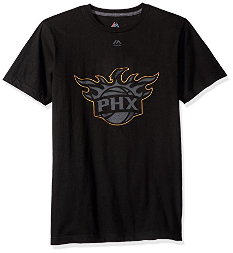 VF LSG NBA Phoenix Suns Men's Ferocious Domination Short Sleeve Crew Neck Tee, Small, Black -