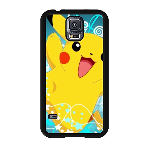 Pokemon Phone Case,Hard Plastic Case Cover for Samsung Galaxy S5 I9600 Beautiful Newest Pikachu Design Back Cover
