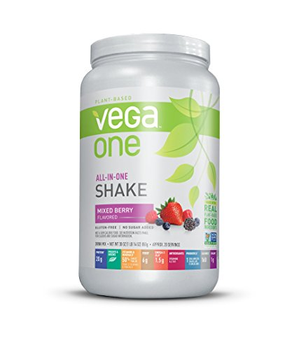 Vega One All-In-One Nutritional Shake Berry (1.88 lb, 20 Servings) - Plant Based Vegan Protein Powder, Non Dairy, Gluten Free, Non GMO