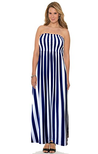 18 MAXI LADIES SMALL 8 Strips 12 24 DRESS 22 SHEERING NEW SUMMER STRAPLESS amp; PLUS GATHER BANDEAU 14 20 10 MEDIUM BOOBTUBE WOMENS 16 White Blue SIZE LONG wzP8ZqRw