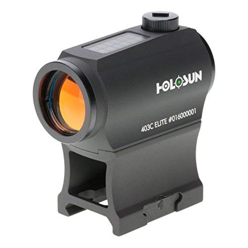 Holosun Elite 2 MOA Dot Night Vision Compatible Solar/Battery Green Dot Sight, HE403C-GR Elite