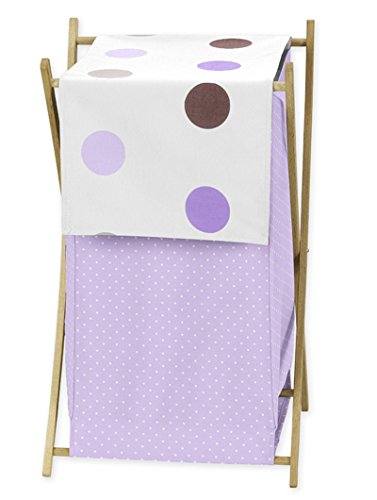 Sweet Jojo Designs Baby and Kids Clothes Laundry Hamper for for Purple and Brown Mod Dots Bedding