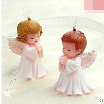 2pcsbaby ángel molde de silicona jabón, bebé fiesta de cumpleaños Fondant Moldes, bebé vela moldes, decoración de pasteles molde, moldes para Chocolate: ...