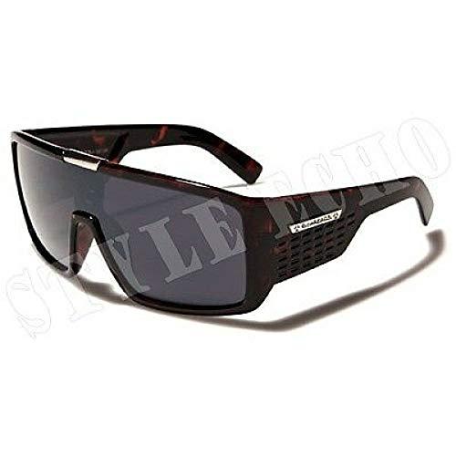le Tortoise Mens Designer Sunglasses Metal Detail on Center ()