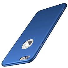 Arkour iPhone 6S Plus Case, iPhone 6 Plus Case, Minimalist Ultra Thin Slim Fit Smooth Matte Surface Hard PC Cover for Apple iPhone 6 Plus/6S Plus (Smooth Blue)