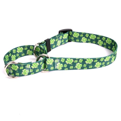 - Yellow Dog Design 4 Leaf Clovers 14-Inch Martingale Collar, Small