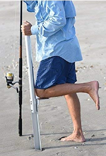 The Beast Sand Spike Rod Holder / 57 inches/Aluminum/Stainless Steel Hardware (Best Surf Fishing Beaches In Florida)
