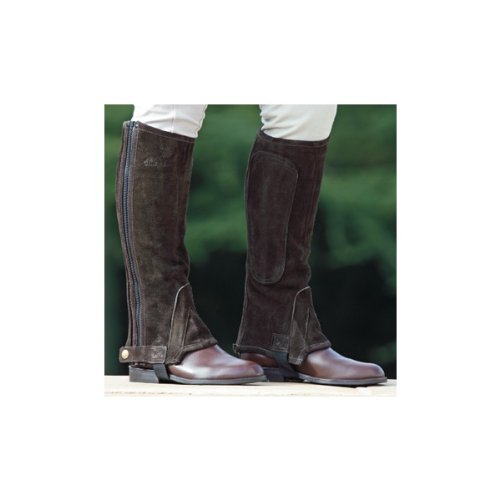 Shires Plain Half Chaps - Adult - Size:XSmall Color:Brown
