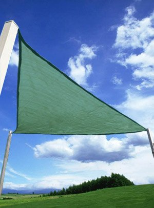 SET OF 2 - 11.5' Triangle Sun Shade Sail w/ Carrying Bags