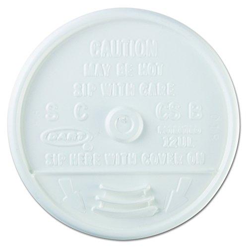 Dart 12UL White Plastic Sip-Thru Lid For 12J12 Foam Cup -