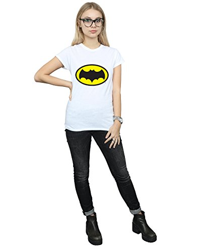 Femme T Blanc Tv Logo shirt Dc Cult Series Absolute Comics Batman CStqw8