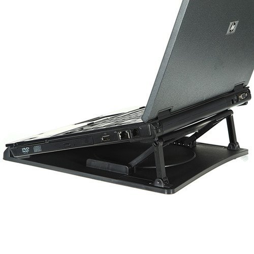 """Welltop® Ergonomic Adjustable Angle Notebook Laptop Cooling Cooler Pad Stand Portable Notebook Cooling Stand for 12.1""""- 14.4"""" 15.4"""" laptop"""