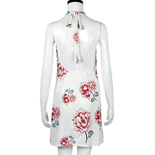 Bekleidung Kleid White Longra afrikanischen Mode Damen lässig Damen Print Strandkleider Kleid Blume Print locker Sommerkleid pCwf56q