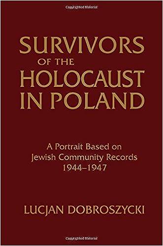 Survivors of the holocaust in poland a portrait based on jewish survivors of the holocaust in poland a portrait based on jewish community records 1944 47 lucjan dobroszycki 9781563244636 amazon books fandeluxe Gallery